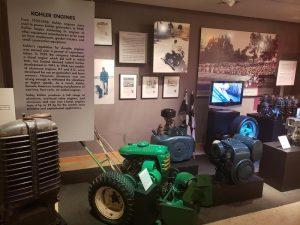 Early power generators on the museum level at the Kohler Design Center.