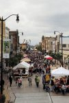 Main Street during Party on the Pavement, Racine