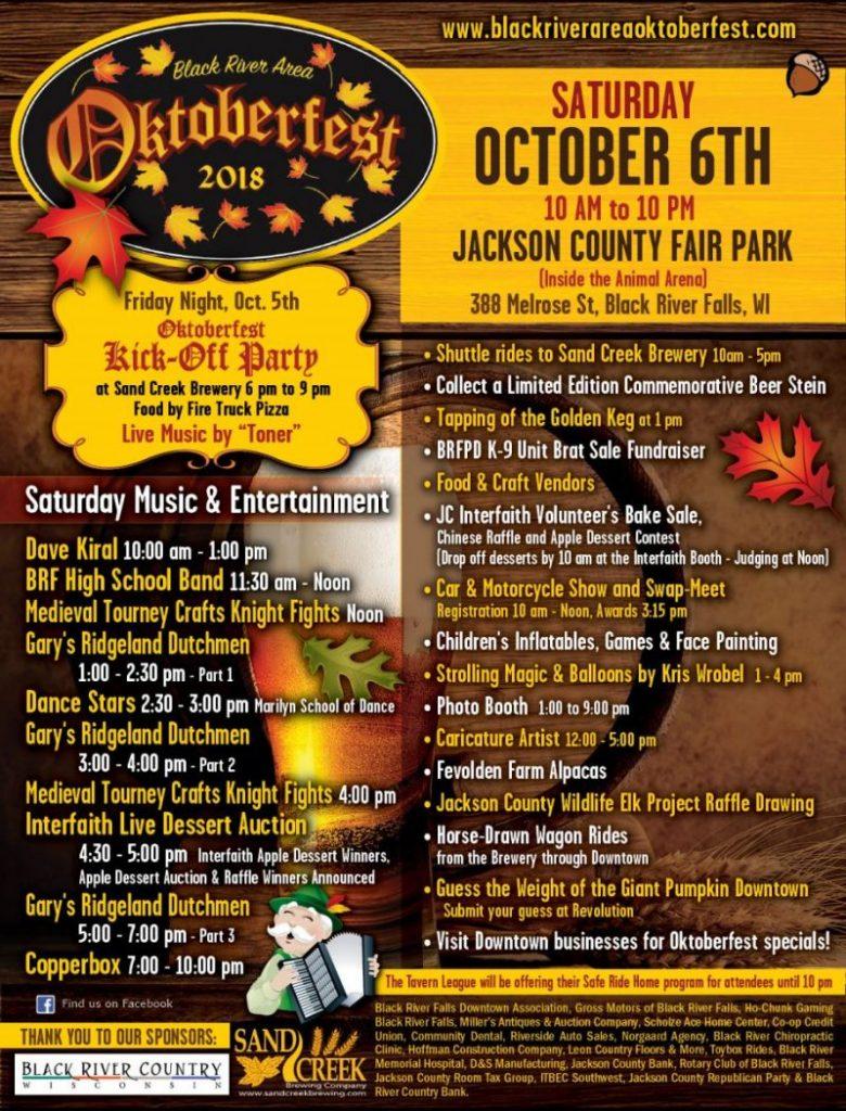 Black River Falls Area Oktoberfest 2018 Poster