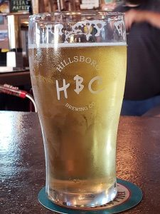 A glass at Hillsboro Brewing Pub in Hillsboro, Wisconsin