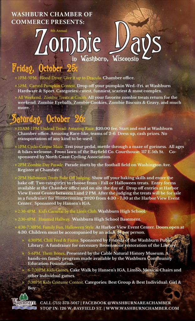 Zombie Days event poster, Washburn