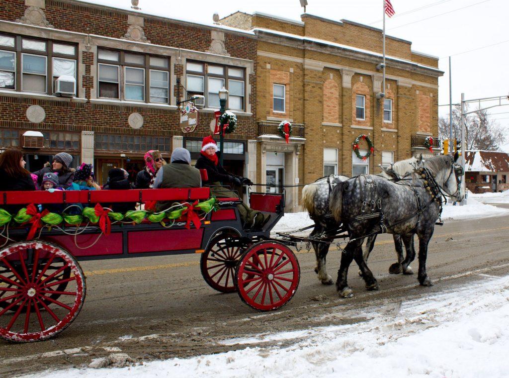 Burlington Ice Festival wagon ride