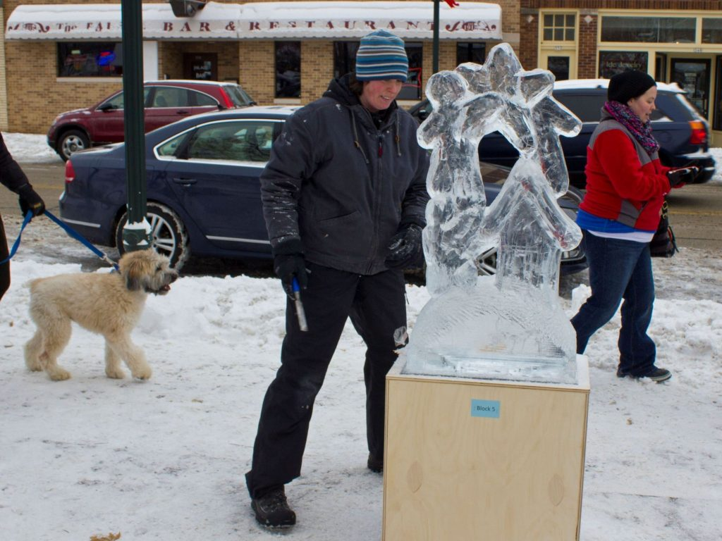 Burlington Ice Festival carving