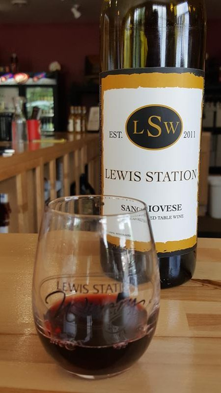 Lewis Station Winery sampling