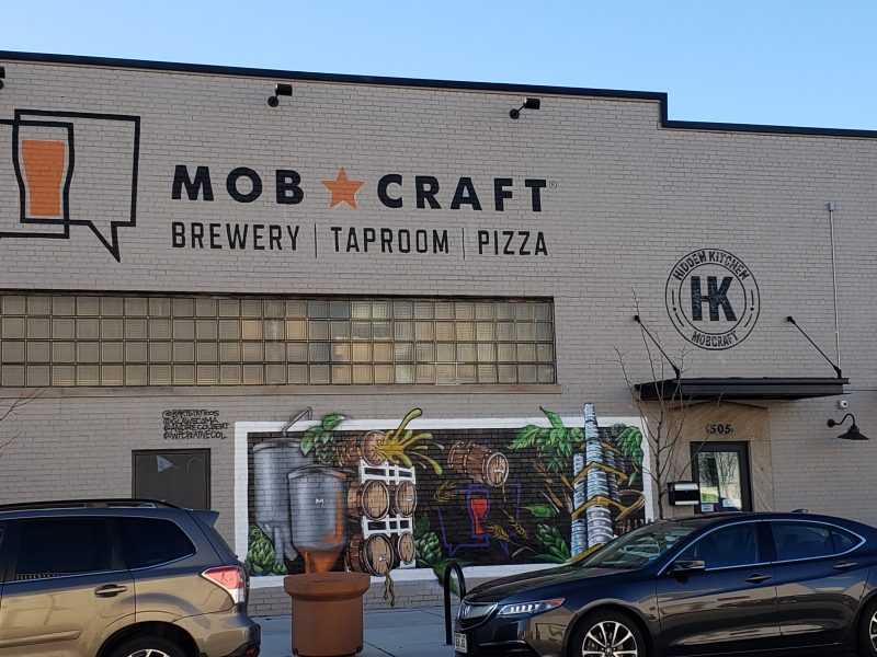 Mobcraft Brewery from 5th Street in Milwaukee