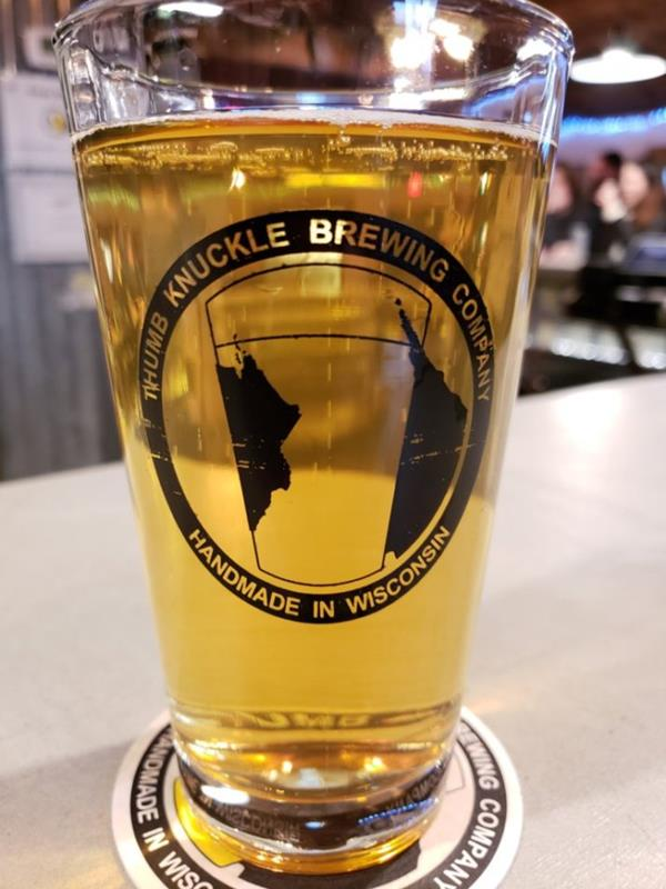 Thumb Knuckle Brewing pint