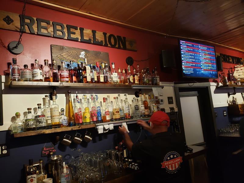 Rebellion Brewing Company bar, Cedarburg