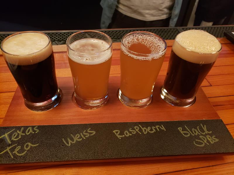 Sampler at Rebellion Brewing in Cedarburg