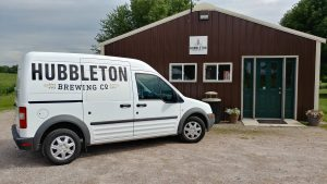 Hubbleton Brewing's Tap Room and Brewery, early 2019