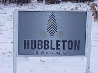 Hubbleton Brewing Company sign along Hubbleton Road
