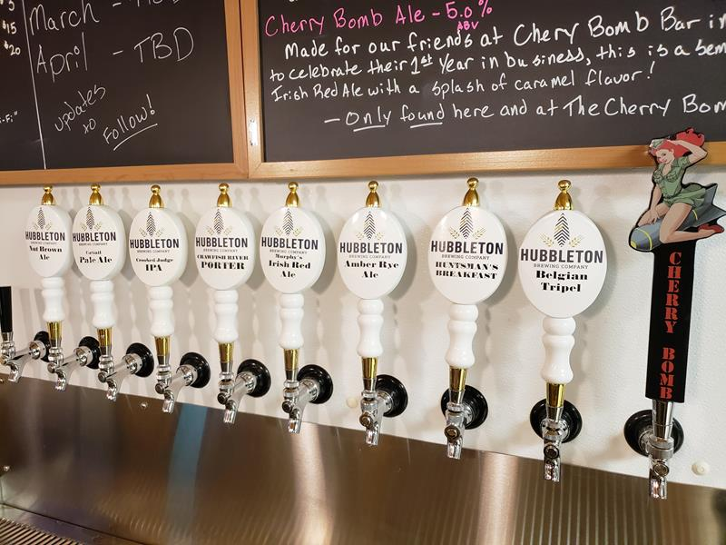 Hubbleton Brewing taps
