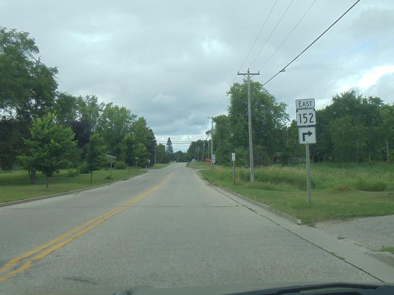 Highway 152 eastbound near the start in Wautoma