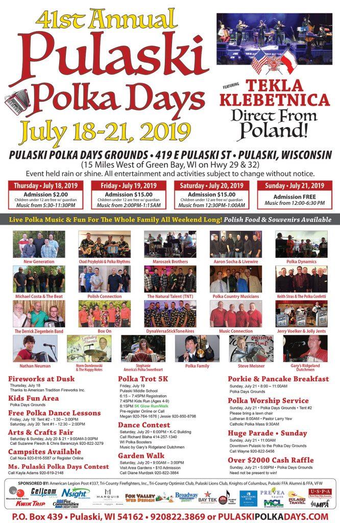 Pulaski Polka Days Poster