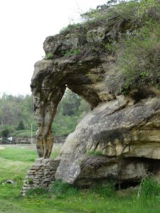Elephant Trunk Rock along Wisconsin Highway 58