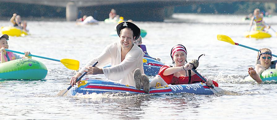 Watertown Riverfest Raft Kayak Race