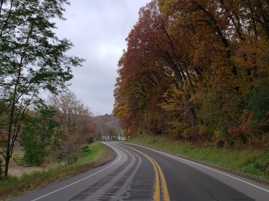 Highway 19 in Dane County in late fall