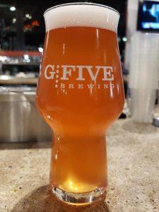 Pint at G5 Brewing, Beloit