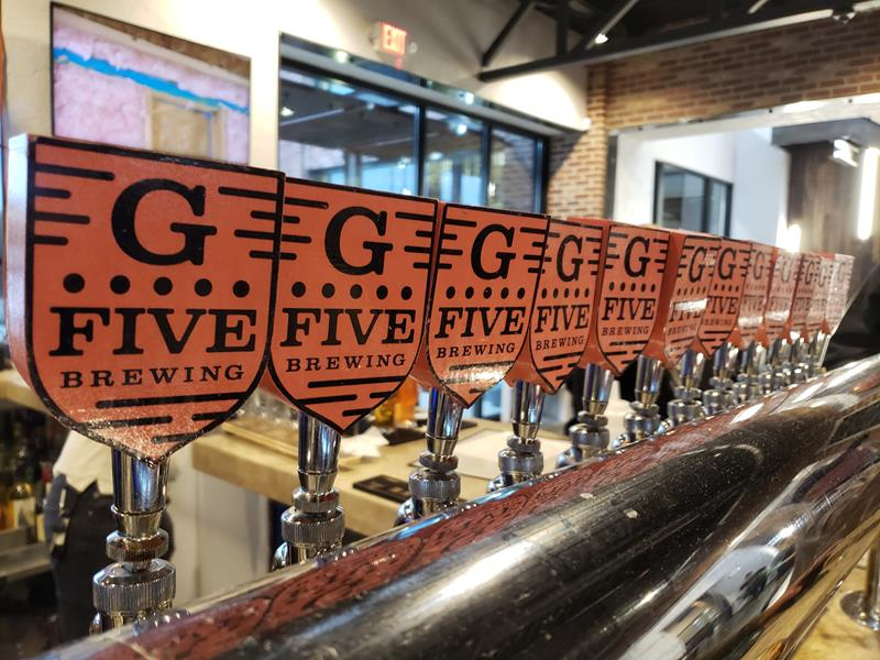 Taps at G5 Brewing, Beloit