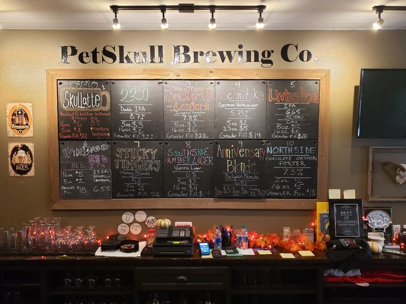 PetSkull Brewing bar and taps