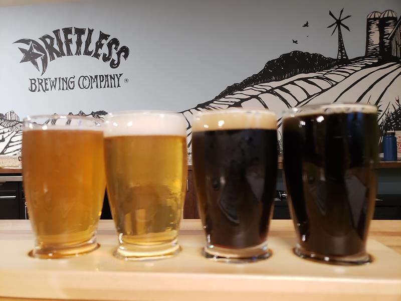 Driftless Brewing Company samplers, Soldiers Grove