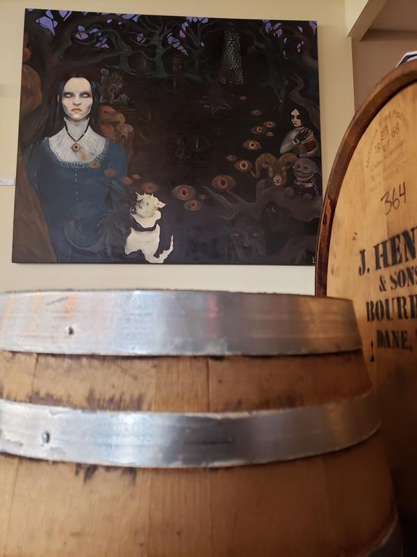 Second Salem Brewing Company art and barrels