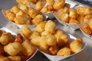 Ellsworth Cheese Curds, fried up at their Cheese Curd Trailer