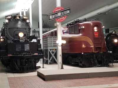 Locomotives at the National Railroad Museum, Green Bay