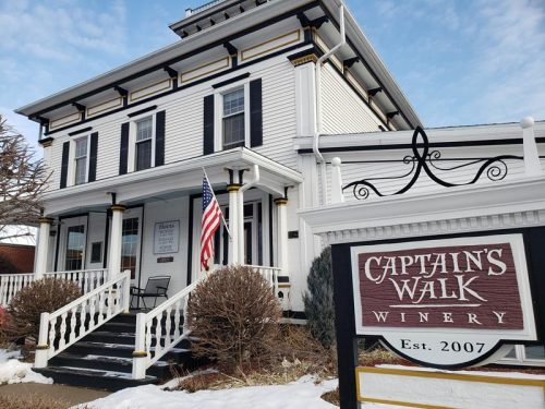 Captain's Walk Winery in Green Bay is located is this beautiful historic house on the edge of downtown.