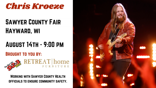 Chris Kroeze at Sawyer County Agricultural Fair, August 14, 2020 in Hayward