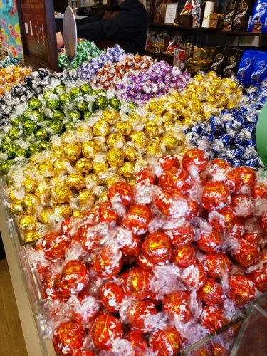 Lindt Chocolates await at Johnson Creek Premium Outlets, on I-94 between Milwaukee and Madison.