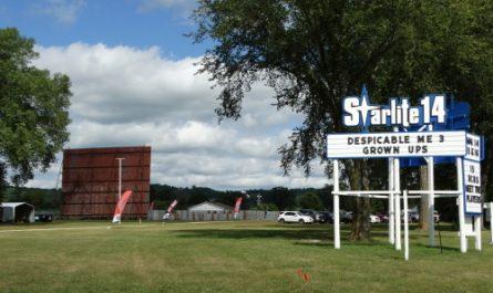 Starlite 14 Drive-In along U.S. 14 in Richland Center, Wisconsin