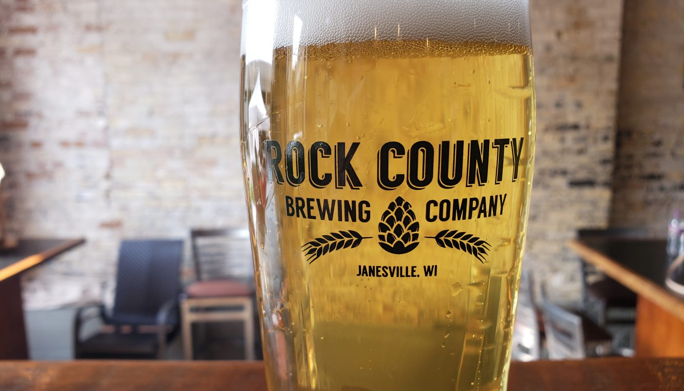 Pint at Rock County Brewing Company, Janesville, Wisconsin