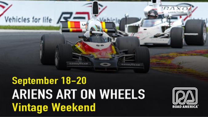 Ariens Art on Wheels Vintage Weekend at Road America, September 18-20, 2020 in Elkhart Lake, Wisconsin