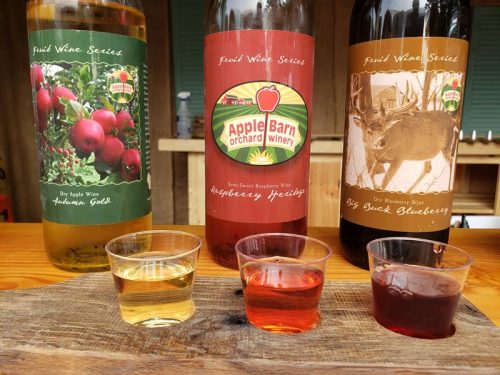 Wines at Apple Barn Orchard & Winery, west of Elkhorn, Wisconsin
