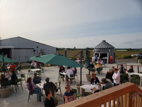 Patio at Duesterbeck's Brewing Company