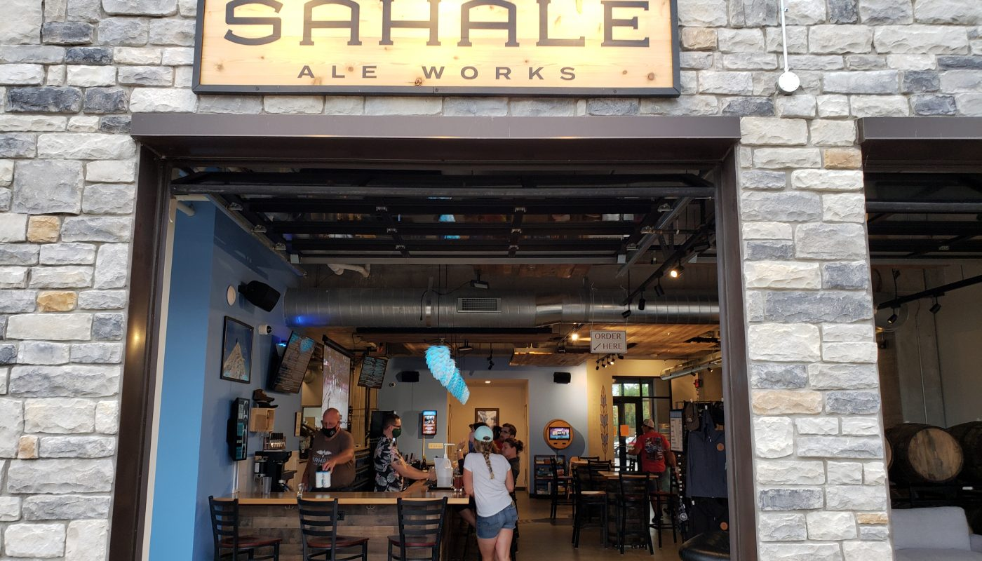Looking into Sahale Ale Works, Grafton, Wisconsin