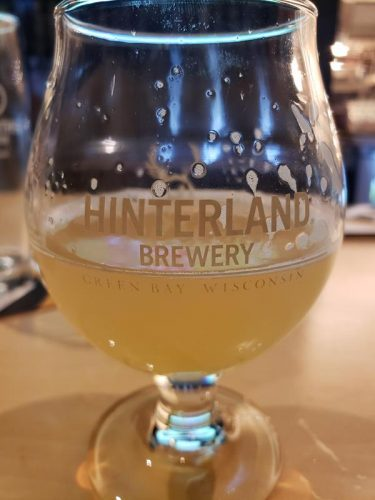 Finishing a beer at Hinterland Brewery, Green Bay, Wisconsin