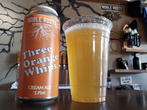 Three Orange Whips Cream Ale at Noble Roots Brewing Company, Green Bay, Wisconsin