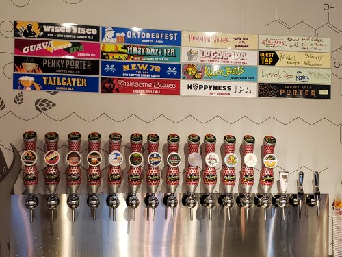 Taps at Stillmank Brewing Company, Green Bay, Wisconsin