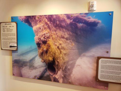 Shipwreck visual at the Port Exploreum, Port Washington, Wisconsin