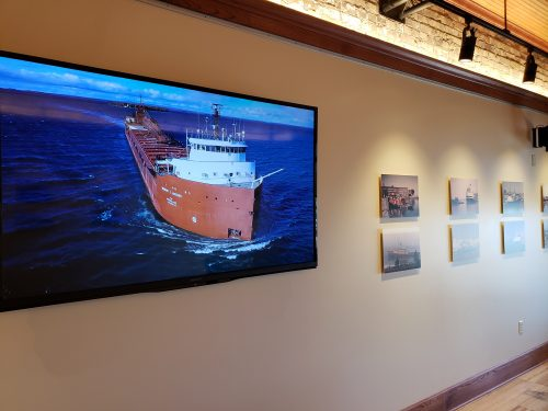 Ship images at the Port Exploreum, Port Washington, WIsconsin