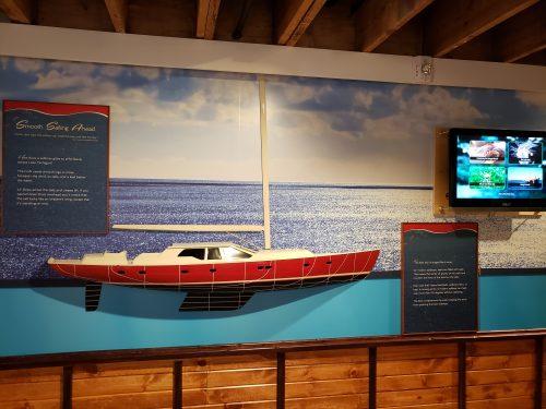 Boat display at the Port Exploreum, Port Washington, Wisconsin