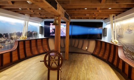 Lake Schooner Exhibit, lower level, at the Port Exploreum in Port Washington, Wisconsin