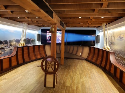 Lake Schooner Exhibit, lower level, at the Port Exploreum in Port Washington, Wisconsin