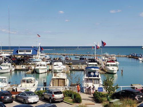Harbor from the Port Exploreum deck, Port Washington, Wisconsin