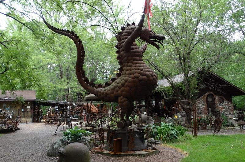 Jurustic Park just might be Wisconsin's oddest (and coolest) sculpture garden