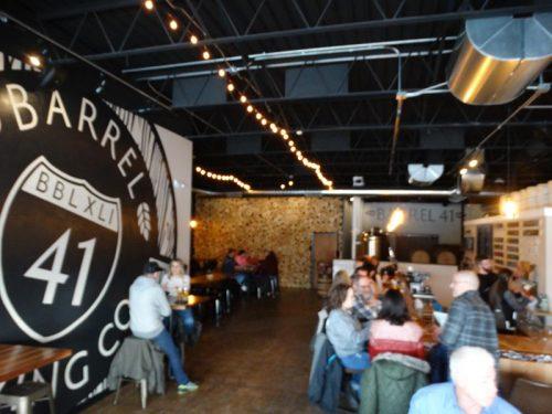 Inside Barrel 41 Brewing Company, Neenah, Wisconsin