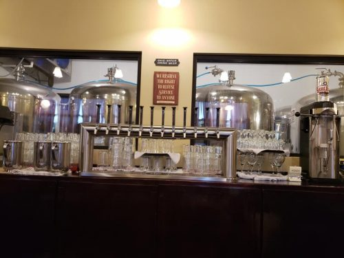 The bar at Bent Rail Brewpub, just off I-39 & U.S. 51 in Westfield, Wisconsin