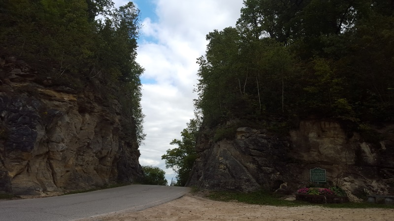 Historic Mindoro Cut on the original route of Highway 108