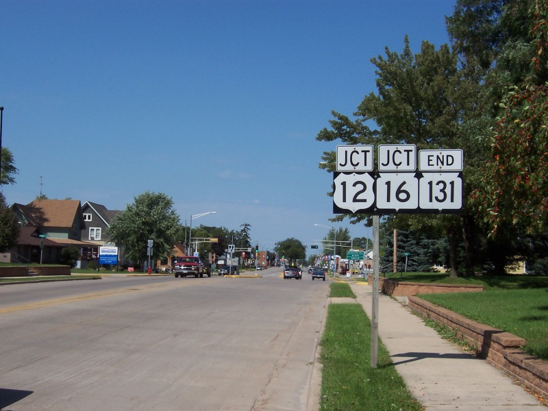 Northern end of Highway 131, at the U.S. 12/Highway 16 intersection in Tomah.